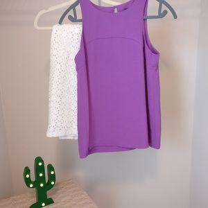 Banana Republic purple tank blouse